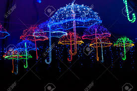 Outdoor Holiday Lights Colorful Outdoor Christmas Holiday Light Display With Colorful