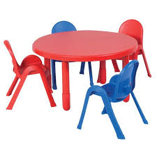 value table 4 chair set round toddler size red table 4 chairs 2 red 2 blue