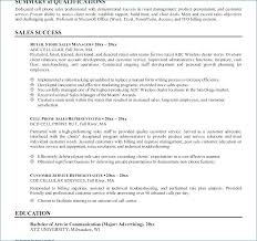 Summary For A Resume Examples Sales Resume Summary Examples Examples ...