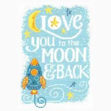 Imaginating Cross Stitch Charts Love You To The Moon