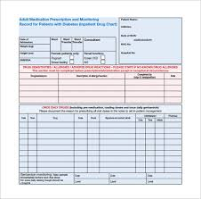 Medication Chart Template Free Download 9 Patient Chart Templates Free Sample Example Format