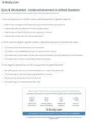 print underachievement in gifted students causes solutions worksheet