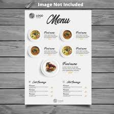 A La Carte Menu Template Restaurant Menu Template Vector Premium Download