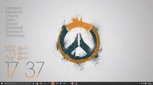 windows 10 overwatch theme overwatch desktop rainmeter youtube