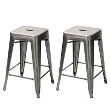 26 inch bar stools. Sweet Gunmetal Silver Glossy Metal Chair Counter Stool Joveco Inches Sheet Frame Tolix Style Bar 26 Inch Stools