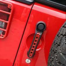 car styling handle tailgate for jeep wrangler 2 door red white insert cover trim bar moulding kits 3x in car stickers from automobiles