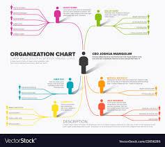 Minimalist Company Organization Hierarchy Schema Vector Image