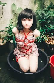 Asia young girl bondage