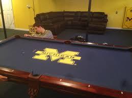 custom pool tables. 8\u2032 University Of Michigan Table Felt Custom Pool Tables B