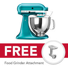 kitchenaid 5qt 4 8l artisan stand mixer 220v sea glass with free