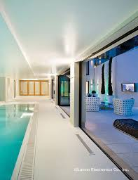proper lighting. complement your indoor pool with the proper lighting create an aquatic atmosphere mood o