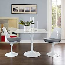White Tulip Dining Table With Squre Top And Many Top Sizes Home