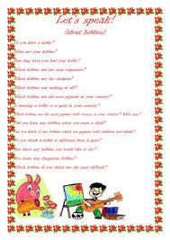 What Is Your Hobbies Lets Speak About Hobbies Worksheet Free Esl Printable Worksheets