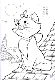 Walt Disney Coloring Pages Marie Walt