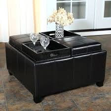 storage ottoman coffee table. Large Square Storage Ottoman Dining Padded Coffee Table Leather
