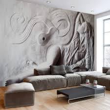 Murwall Sculpture Wallpaper 3D Embossed ...