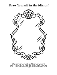 mirror coloring pages for kids. 4 Mirror Mirror. Coloring Pages For Kids M