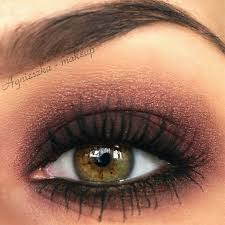 wish i had this color eye a perfect bronzed smokey eye look to pliment hazel eyes add lashings of maa to create that perfect evening look