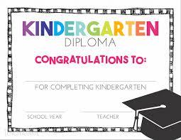Free Pre K And Kindergarten Graduation Diplomas Teach Junkie