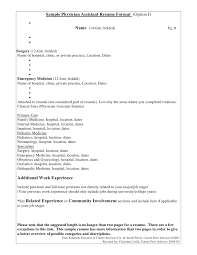 Physician Assistant Resume Template Physician Assistant Resume