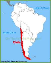 chile location on the south america map
