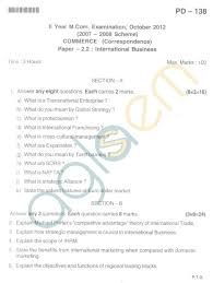 bangalore university question paper oct ii year m com  bangalore university question paper oct 2012 ii year m com commerce international business