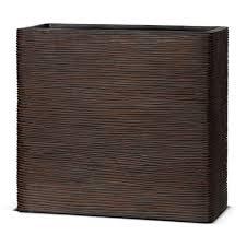 <b>Кашпо Capi</b> Nature Planter envelope <b>Rib</b> коричневое - купить в ...