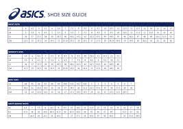 Asics Size Chart Asics T Shirt Size Guide Www Irishpostoffices Org