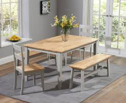 grey oak dining table uk. chiltern 150cm oak and grey dining table set with benches chairs uk u
