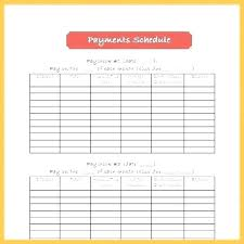 Timetable Template Cool Chore Payment Schedule Format Letter Excel Template For Chart Free