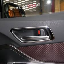4 stainless steel car interior car door handle bowl frame cover trim for