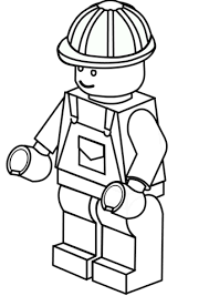 Small Picture Lego Construction Worker coloring page Free Printable Coloring Pages