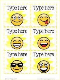 Birthday Chart Editable Large Pictograph Emoji Theme Emoji