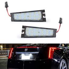 Cadillac Cts Lights Gempro 2pack Led License Plate Light Assembly For 2008 2010 Cadillac Cts Powered By 18smd Xenon White Led Lights