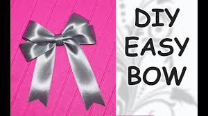 DIY easy / DIY cfrafts / DIY Ribbon BOW / How to make a bow out of ribbon /  DIY beauty and easy - YouTube