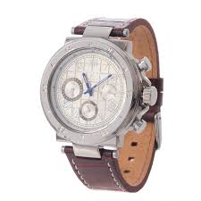 joseph abboud silver dial chronograph watch leather strap for men in brown