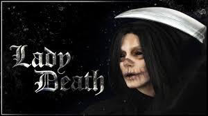 lady grim reaper makeup tutorial