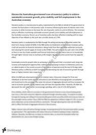 hsc economics monetary policy essay year hsc economics  yr 12 economics monetary policy essay