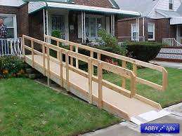 wooden wheel chair ramps lifts affordable modular ramp meet guidelines portable wood wheelchair ramp plans