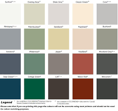 Bluescope Color Chart Colorbond Zincalume Roof Sheeting Gutters Flashings