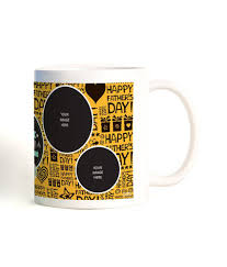 bluegape fathers day gifts yellow ceramic 300 ml personalised stunning photo mug create with your own