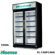 hisense glass door beverage cooler fl130fc4hs