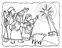 Nativity Scene Coloring Pages Printable Free Free Nativity Coloring