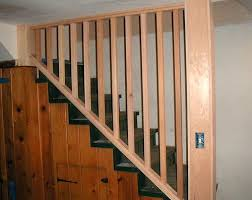 basement stairs railing. Custom Fabricated Basement Stairs Railing A