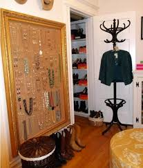 hang a cork wall for jewelry storage