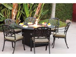 focus fire pit dining set patio round table furniture s