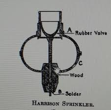 best fire protection images fire sprinkler fire  major a stewart harrison is credited inventing the first automatic sprinkler head in 1864