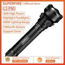 Đèn Pin Công Suất Cao SupFire L3 LED Đèn Rọi Bắn Tầm Xa Ánh Sáng Mạnh  1100LM/3400LM Đèn Pin Có Thể Mở Rộng chính hãng 890,000đ
