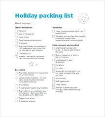 Business Trip Agenda Template Business Travel Packing List Template
