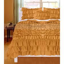 ruffle duvet cover fancy gold 1000tc ruffle duvet cover covers valance egyptian cottonwreycart ruffle duvet cover